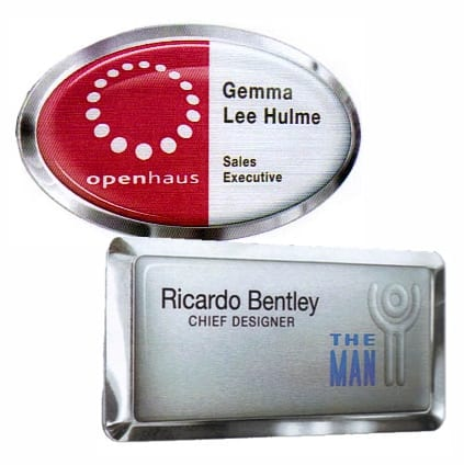 Metal Framed & Domed Name Badges